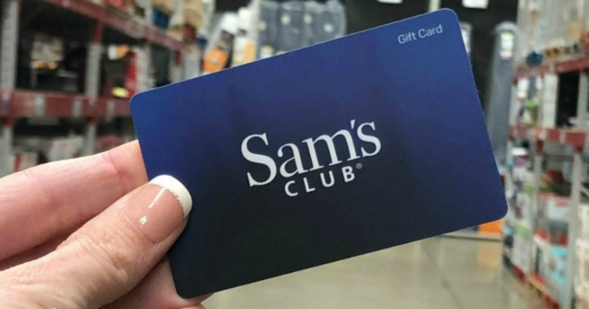 Sam's Club Gift Card in hand in aisle
