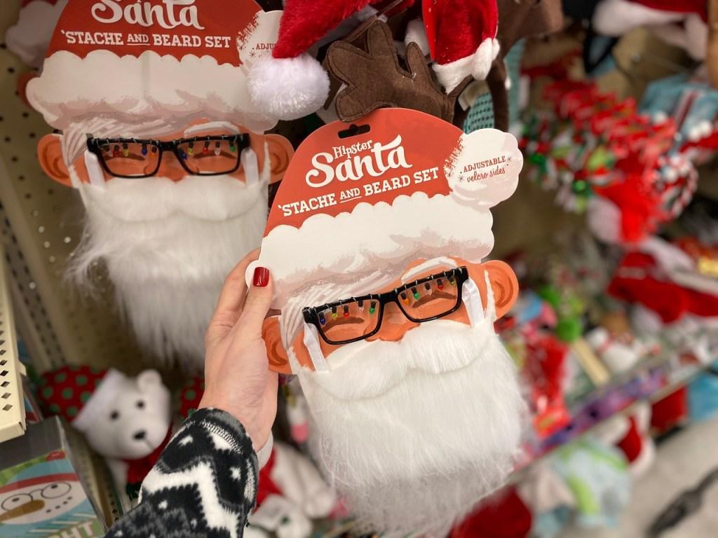 Santa Stache and Beard set in hobby lobby store
