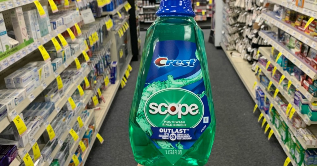 Scope mouthwash in aisle