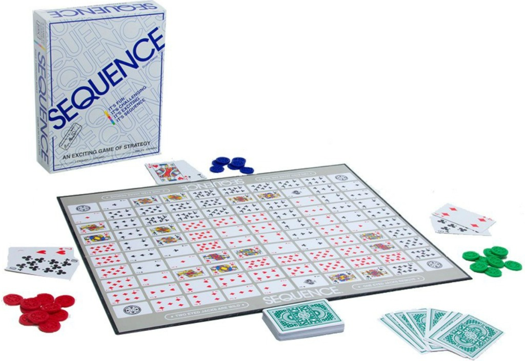 Sequence the board game set up with pieces