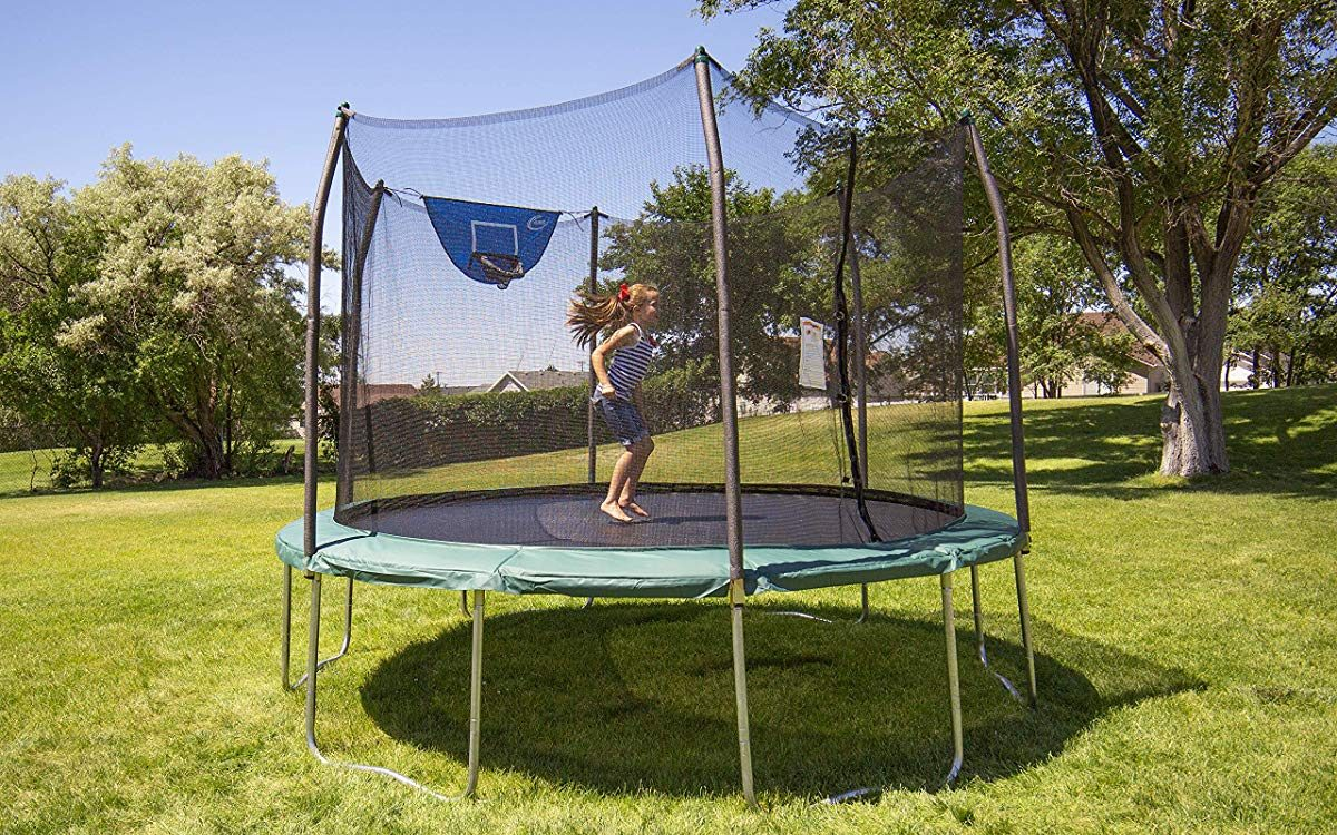 girl jumping on Skywalker Trampoline