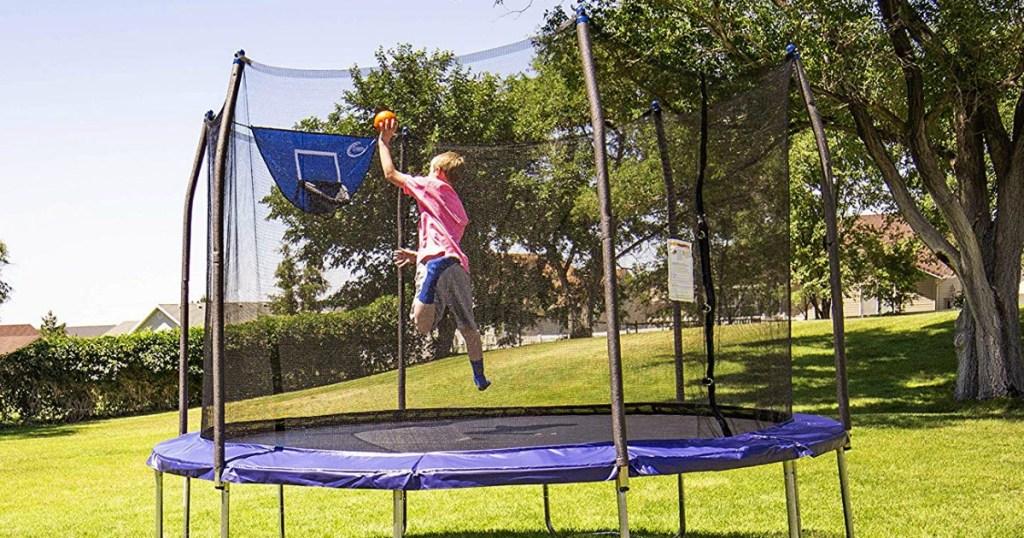 boy jumping on Skywalker Trampoline