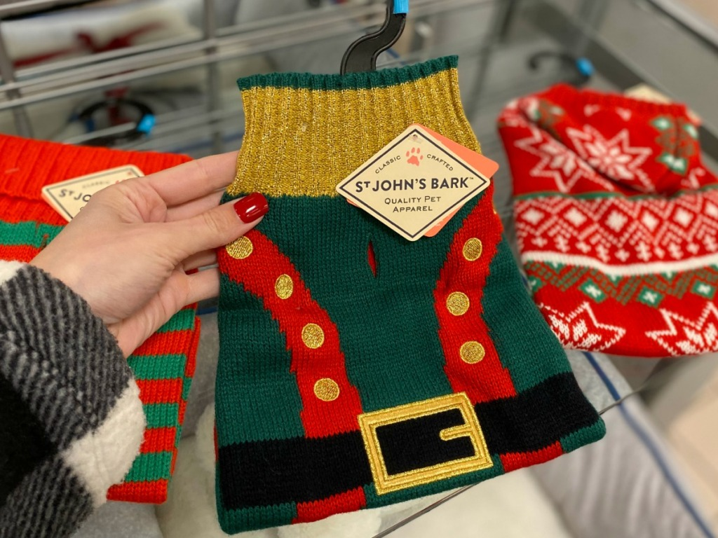 St John's Bark brand dog sweater