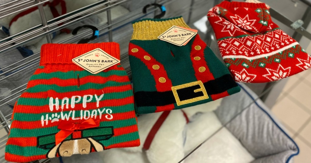 St. Johns Bark Dog Pet Clothes on display at JCPenney
