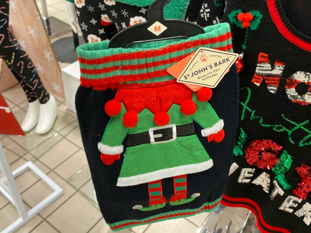 St. John's Bark Dog elf sweater