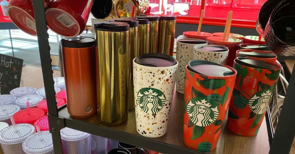 Starbucks holiday drinkware