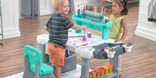 Step 2 Deluxe Creative Projects Kids Art Desk Only $59.99 Shipped + Get $15 Kohl's Cash (Regularly $100)
