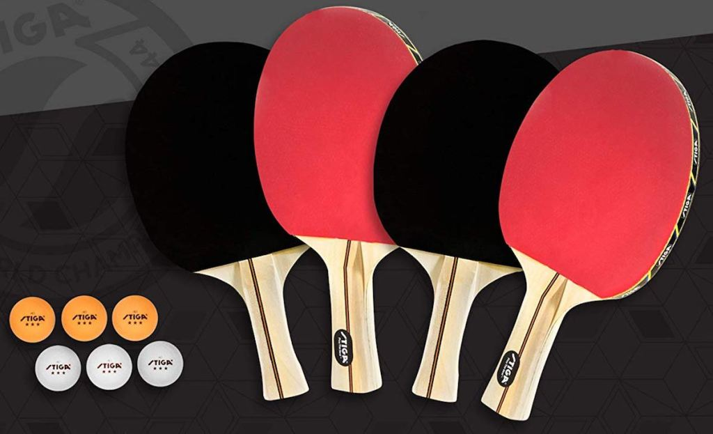 Stiga Table Tennis Set with paddles and balls