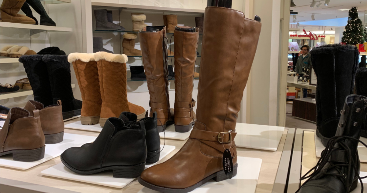 brown Style & Co Madixe Riding Boots in store