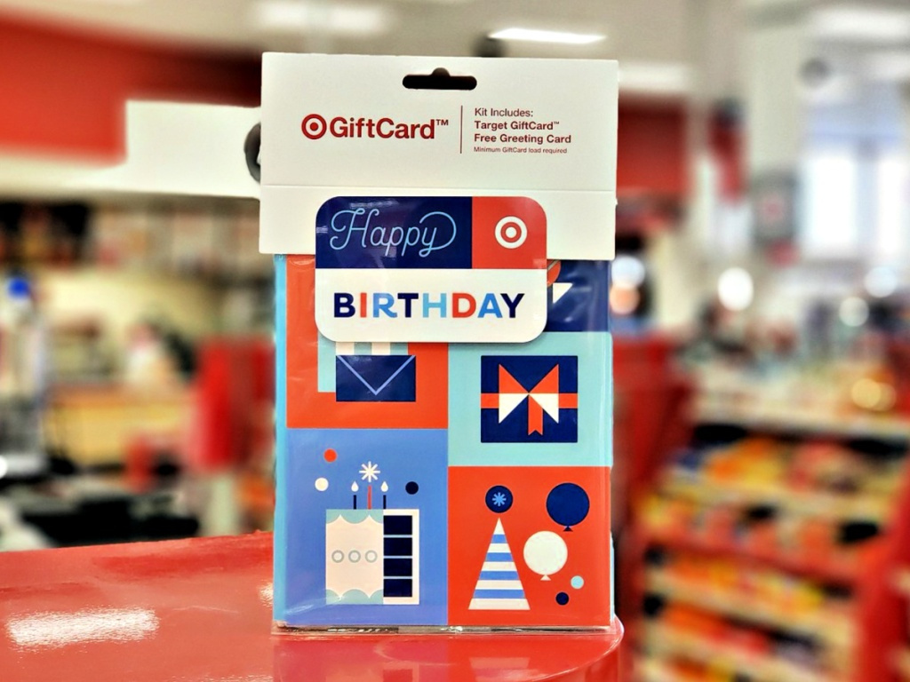 Target Birthday Symbols GiftCard + Free Greeting Card
