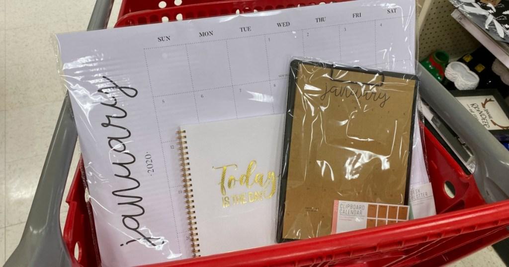 Target Calendars in cart