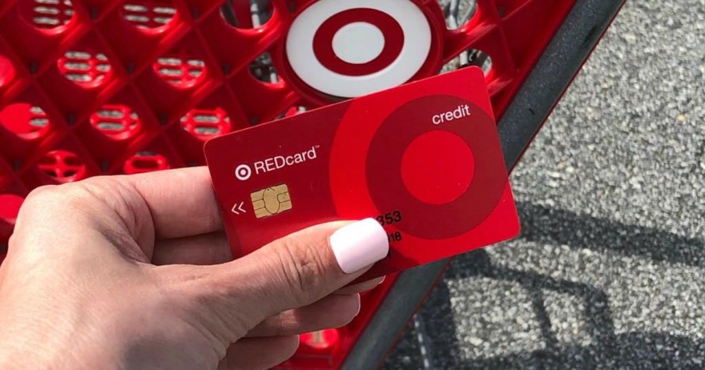 lady holding a Target redcard