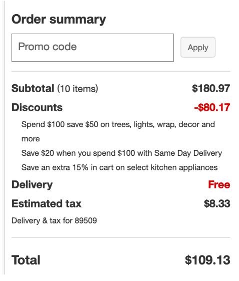 Target checkout screenshot