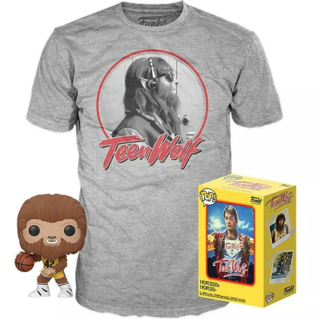 Teen Wolf themed tee with vinyl figure and box
