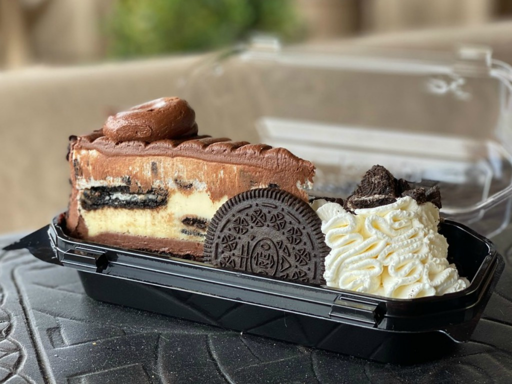 The Cheesecake Factory Cheesecake oreo in to-go container