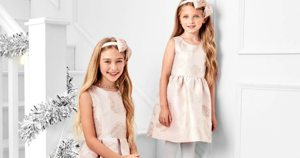 girls wearing The Children's Place Holiday Dresses