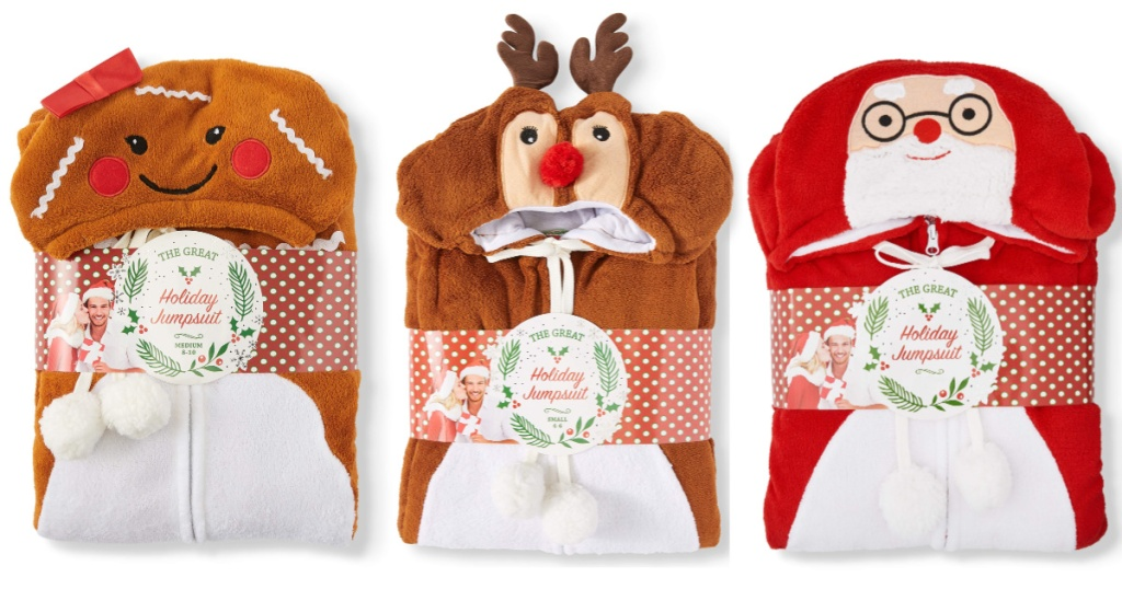 three the great christmas hooded jumpsuits