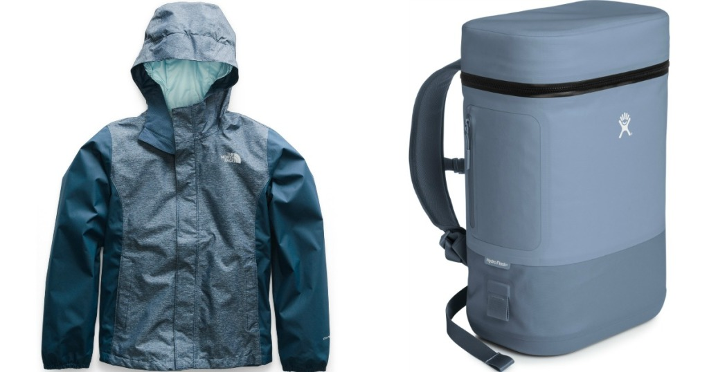 The North Face Jacket and Hydro Flask Cooler