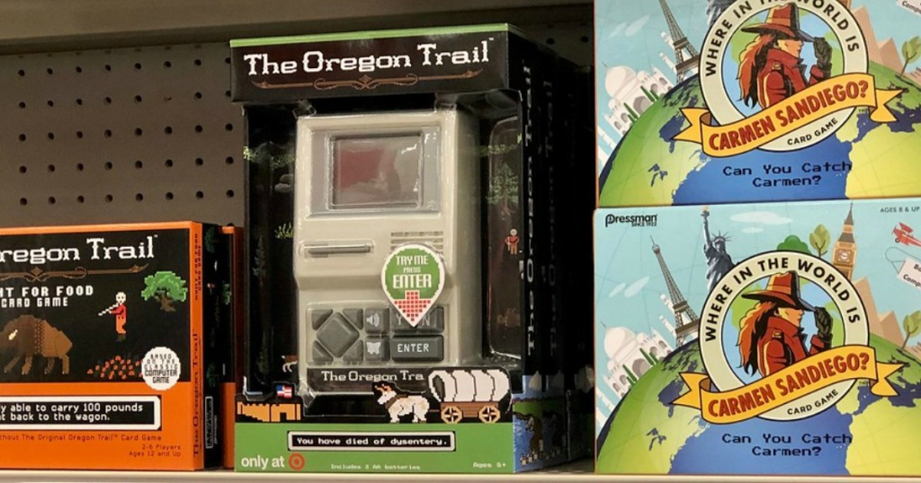 The Oregon Trail handheld game in-store