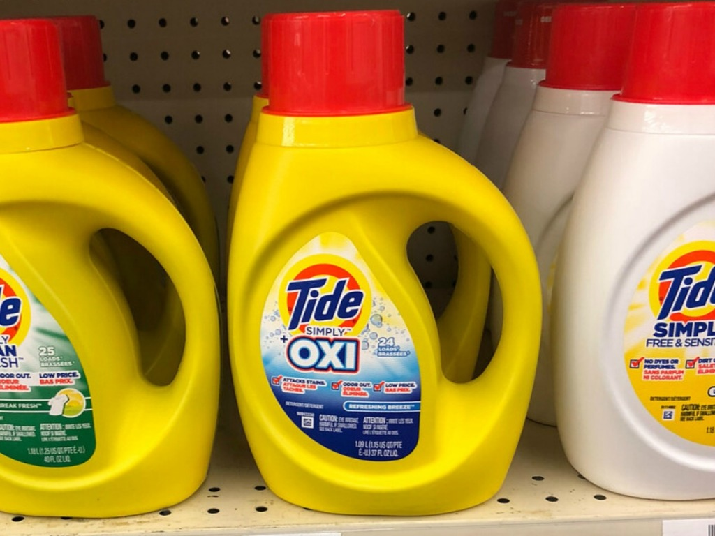 Tide Simply laundry detergent on shelf in-store