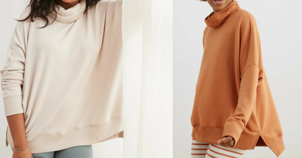 women wearing Turtleneck Sweatshirts