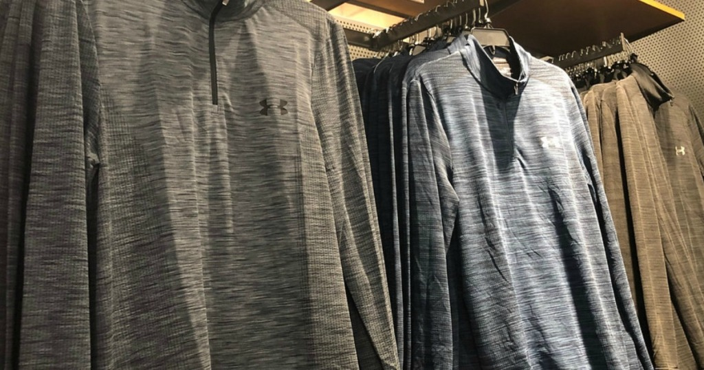 Grey and Charcoal Under-Armour-Half-Zip