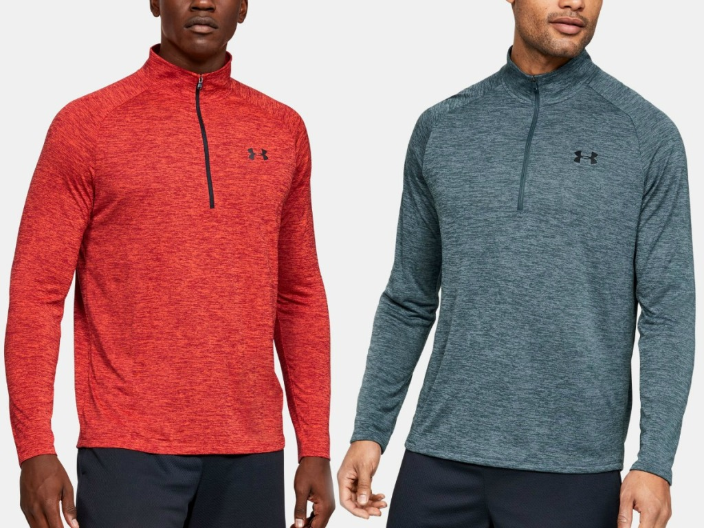 Two men wearing Under Armour jackets
