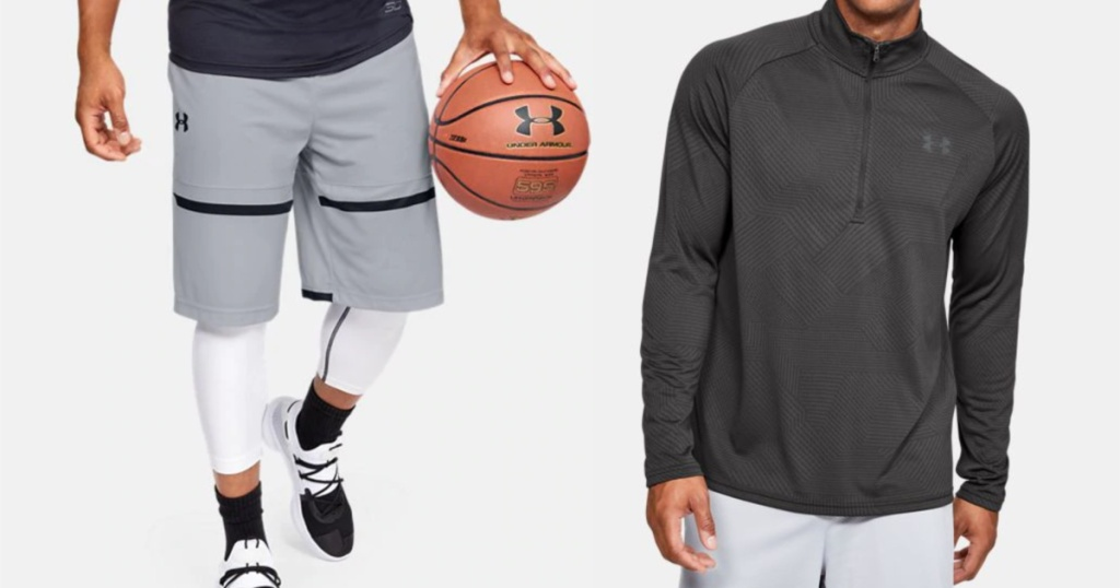 Under Armour shorts and long sleeve shirt