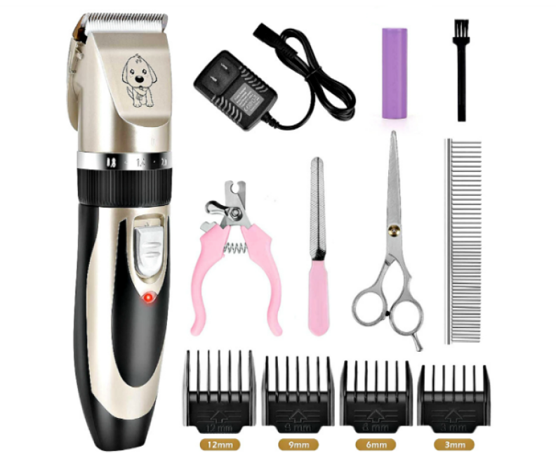 Veperain Pet Clippers and Accessories laid out