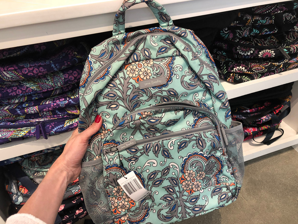 Vera Bradley Backpack being held by a woman
