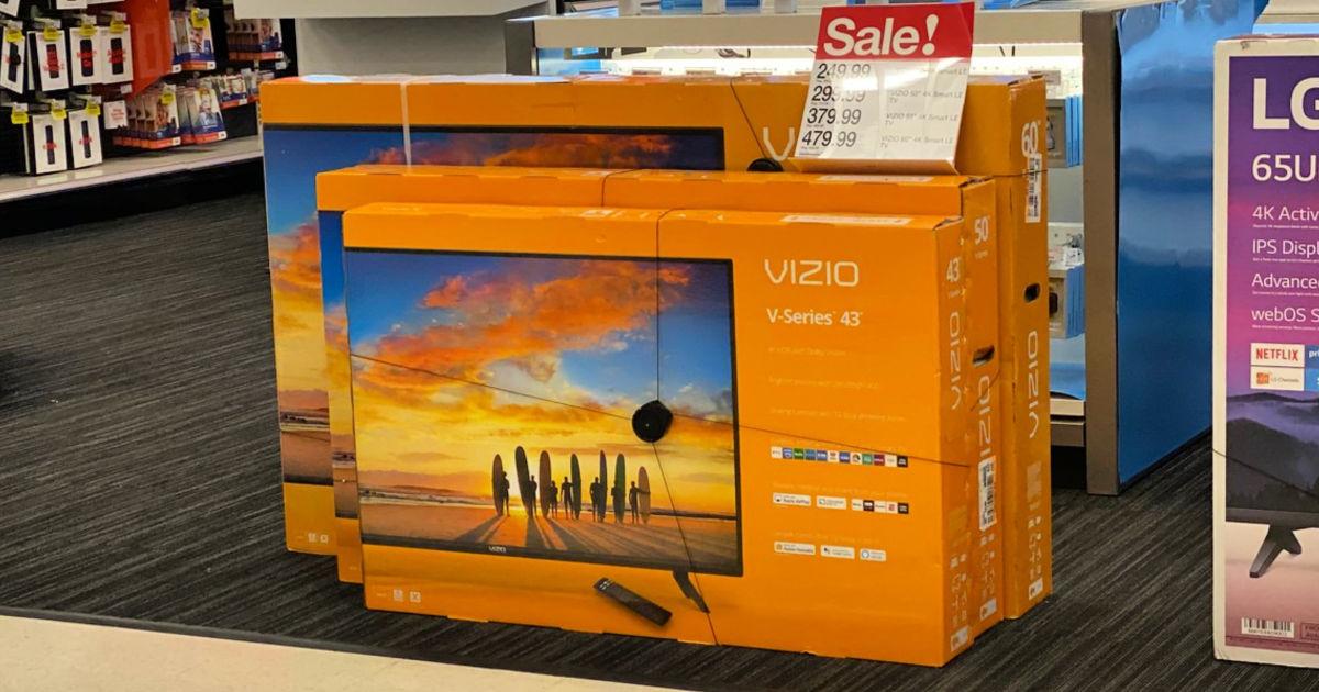 two Vizio TV Boxes at Target