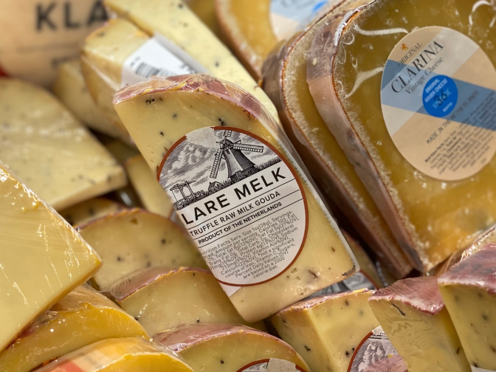 klare melk truffle gouda cheese at whole foods
