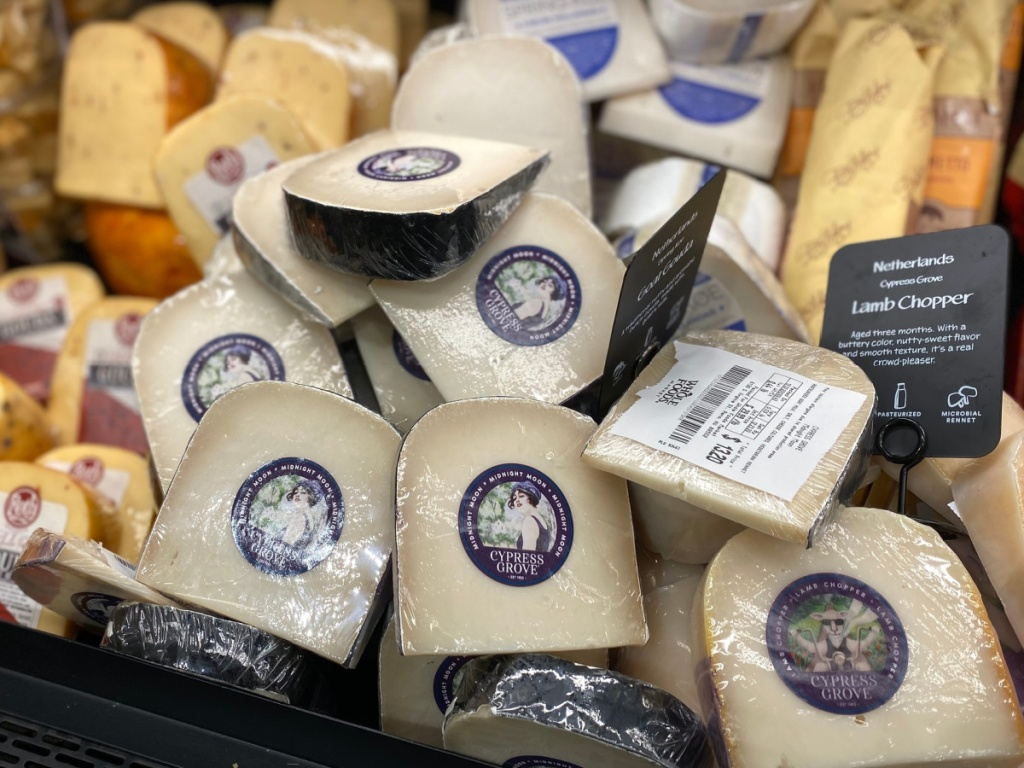 cypress grove cheese in dairy case at whole foods