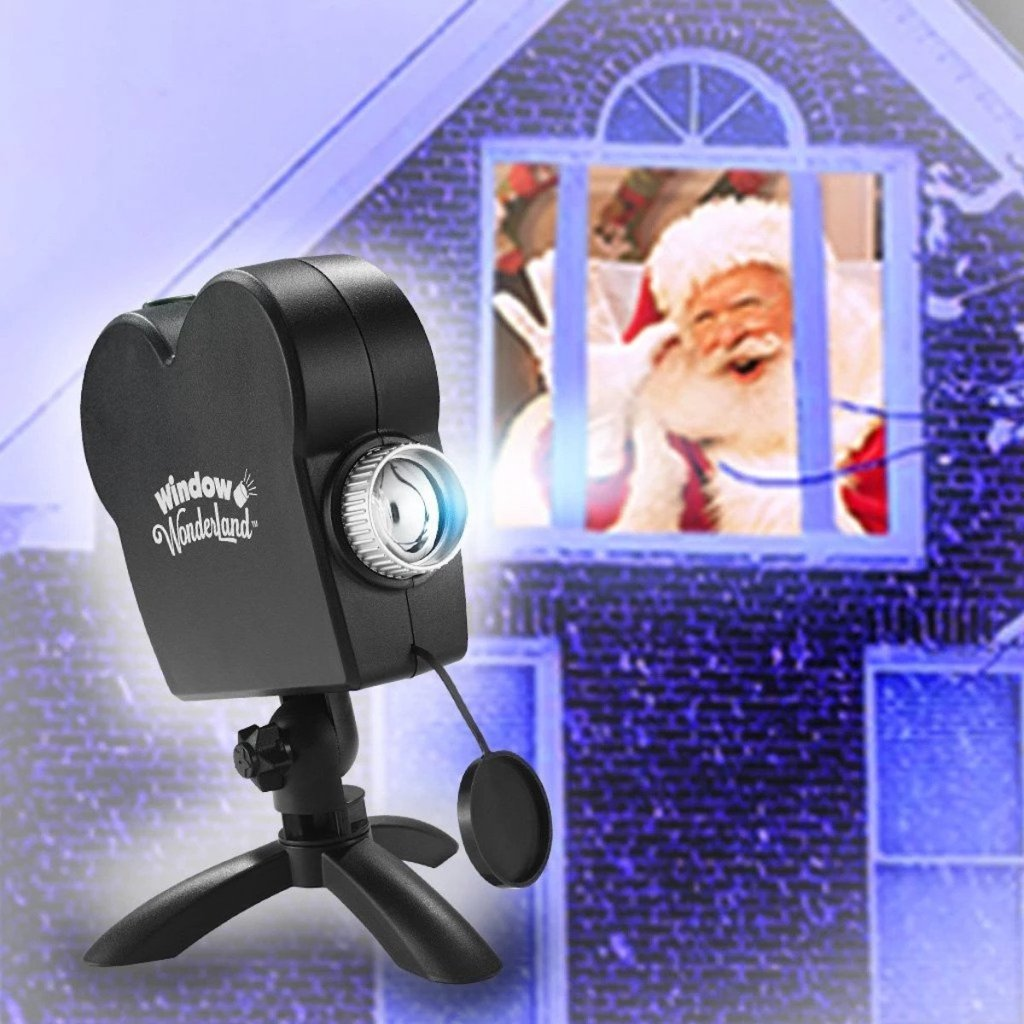 Window Wonderland As Seen on TV LED Pattern Light Projector with santa in the window