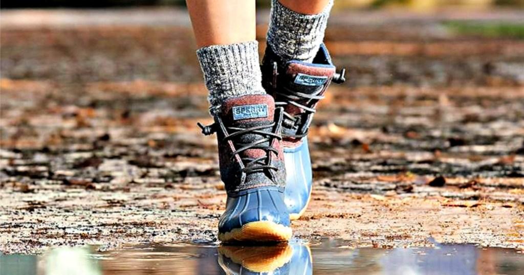 Women's Saltwater Varsity Stripe Duck Boot