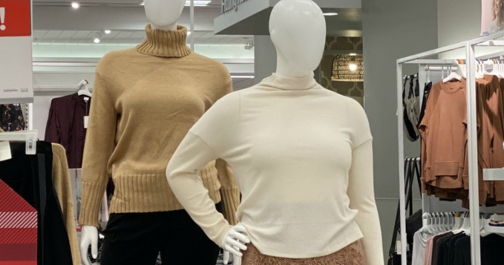 Women's Sweaters at Target on manequins