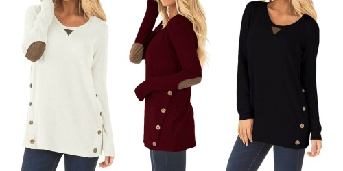 Women's Long Sleeve Button Tunic Tops as Low as $9.99 at Amazon (Regularly $23)