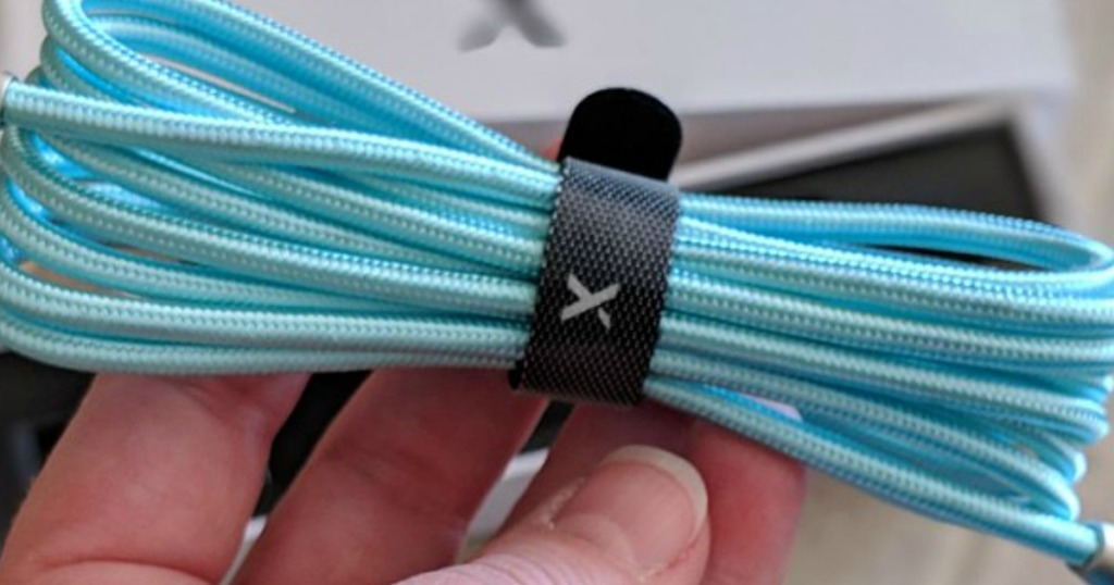 Xcentz Charging Cable being held