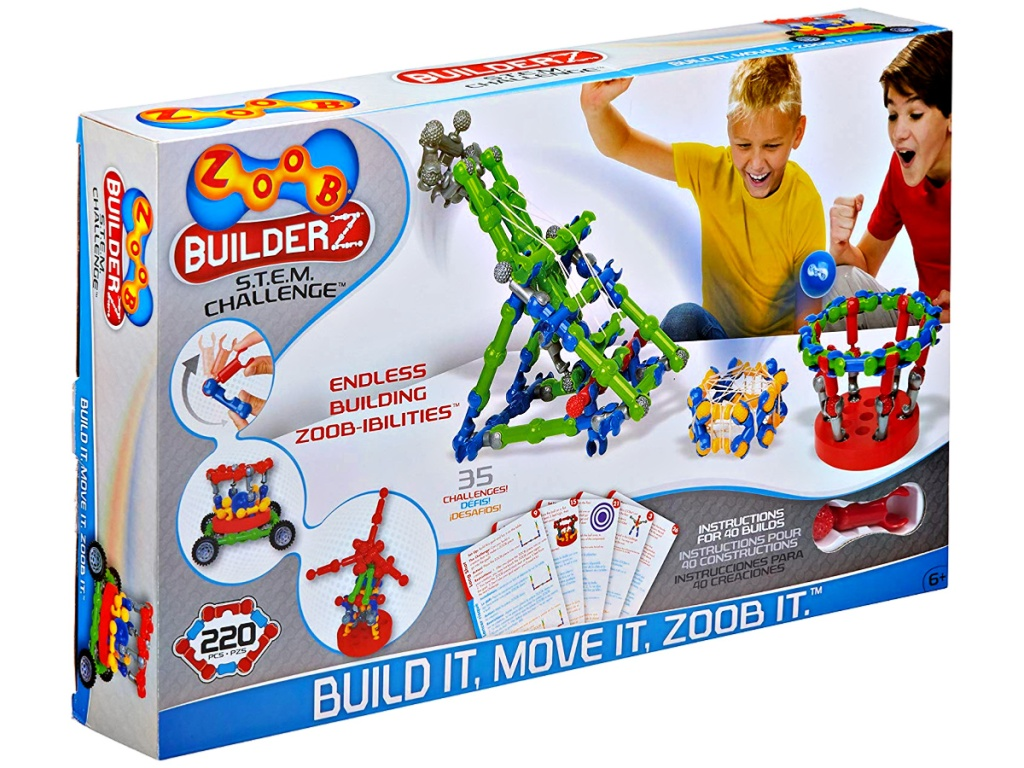 ZOOB BuilderZ S.T.E.M. 220-Piece Challenge Moving Building Modeling System