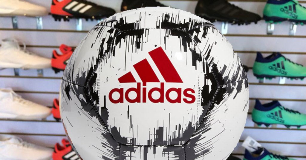 Adidas Soccer Ball in shoe store