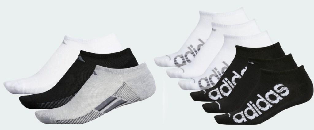 Women's no-show adidas socks