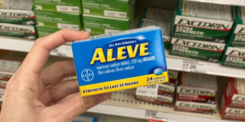 Aleve 24ct Pain Reliever Only 65¢ at Target (Regularly $3.79)