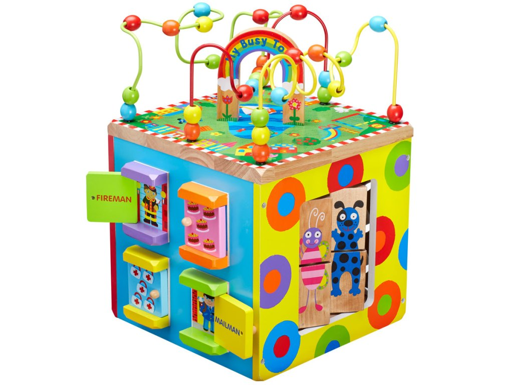 stock image ALEX Toys Discover My Busy Town Wooden Activity Cube