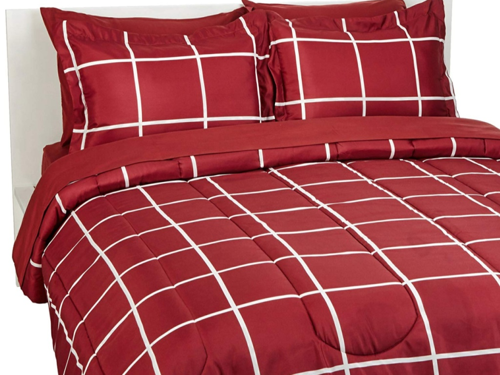 red and white bedding set