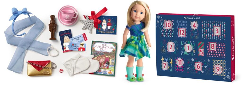 american girl doll and advent calendar
