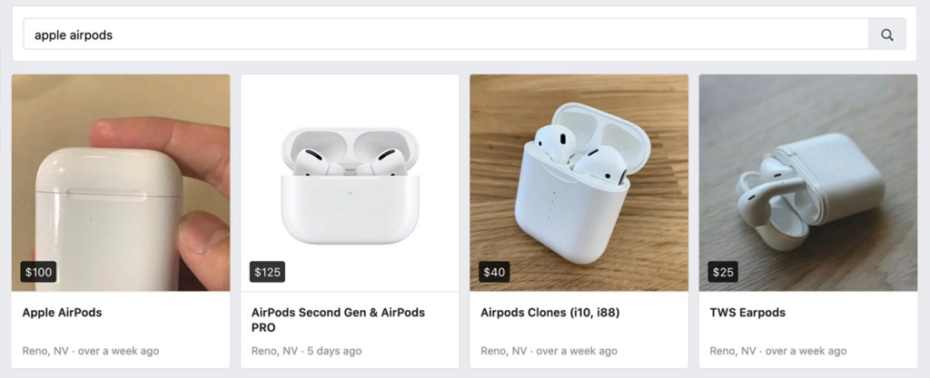 apple airpods on Facebook Marketplace