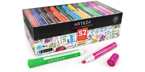 ARTEZA Dry Erase Markers 52-Count Box Just $14.62 Shipped at Amazon