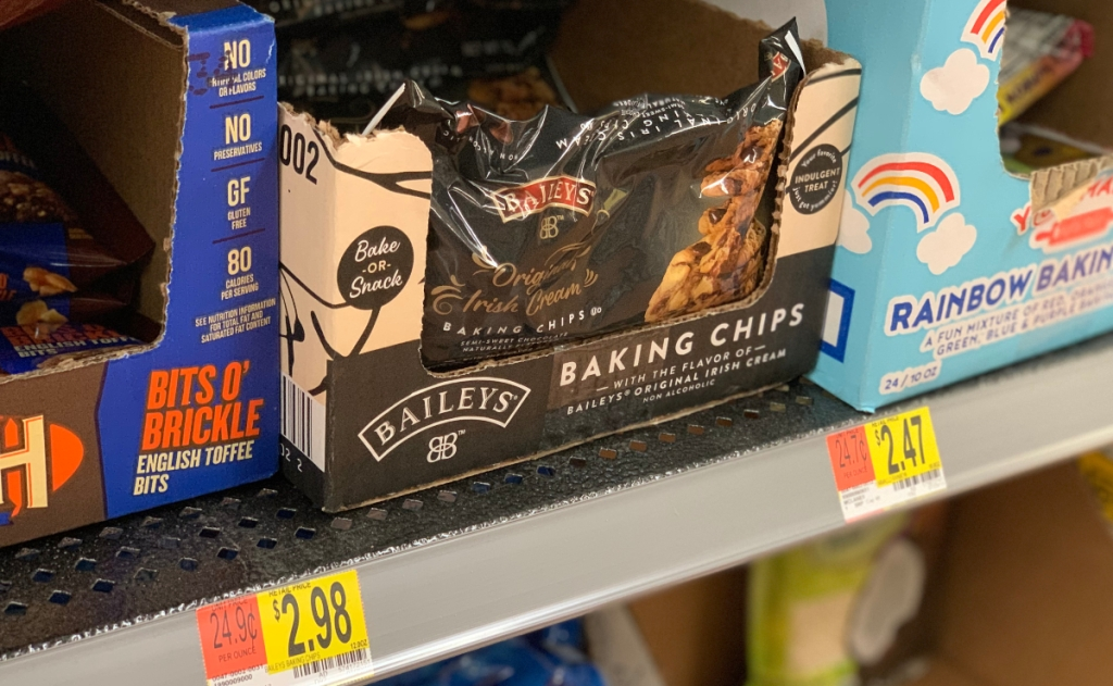 Baileys baking chips at Walmart