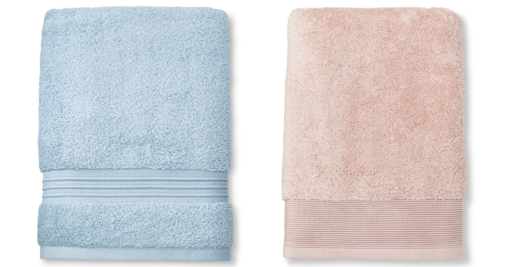 two bath towels from target