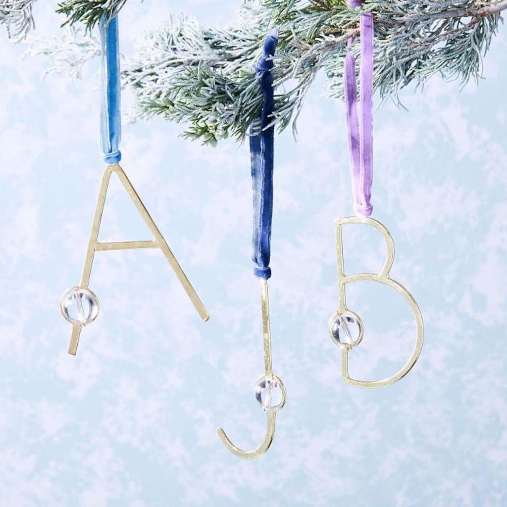Letters a, j, & b bauble-monogram-ornaments